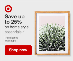 SAVE up to 25% on home essentials at Target online. Valid 6/17-6/23/2018 only.