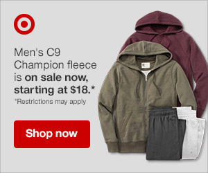 Deals on a fall workout must-have from Target! Valid 10/21-10/27/2018 only.